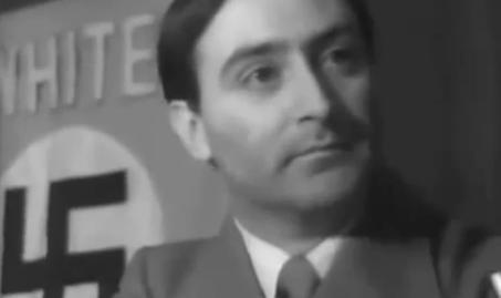 """""""Nazisten"""" menade på klichéaktig förintelsebluffmanér att Hitler var dålig för att han enbart dödade 6 000 000 judar. Judisk massmedia bombarderade den amerikanska allmänheten med nyheter om denna obskyra """"nazist""""."""