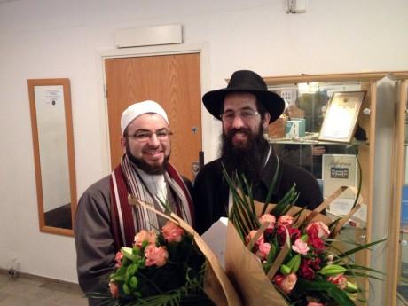 Imamen Salahuddin Barakat och rabbinen Shneur Kesselman.
