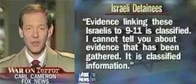 """Fox News sände en uppmärksammad reportageserie som granskade USA:s """"allierade vän"""" Israel. Deras källor berättade att det finns ännu mer bevis som länkar israeler till 9/11-attackerna, men att dessa bevis har hemligstämplats."""