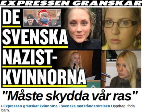 Skärmbild från Expressen.se