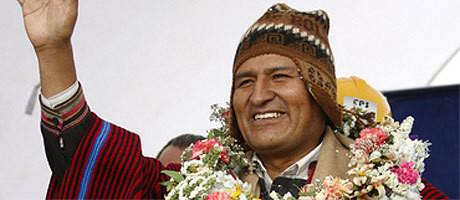 Bolivias president Evo Morales uttalar sig mot USA:s aggressiva utrikespolitik.