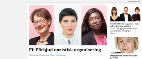 Tre svenskhatande feminister som vill inskränka meningsmotståndares rättigheter.