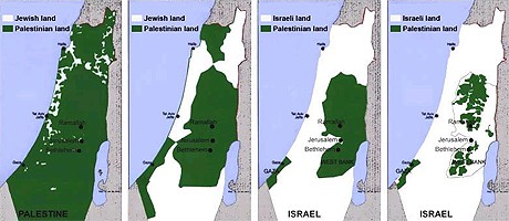 Bilden visar judisk kolonisation av Palestina.
