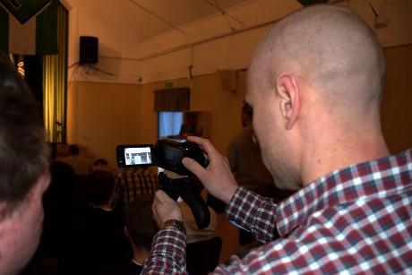 Aktivistdagarna dokumenteras av mediagrupp.