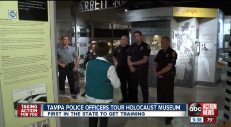 tampa-polis-förintelsemedvetenhet