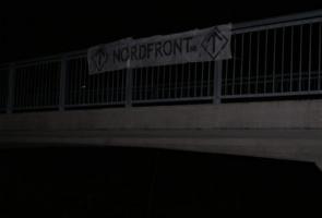 Banderolluppsättning i Lidingö