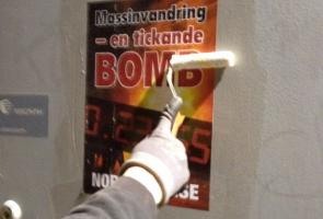 Affischering i Flen