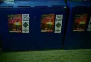 Affischering på Lidingö