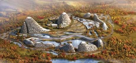 Tidigt exempel på hur den nya kinesiska staden skulle kunna se ut.