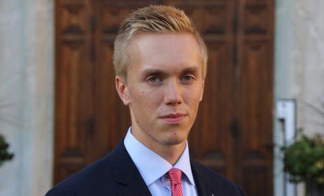"""William Hahne från """"SDU-falangen"""" är på väg att uteslutas från Sverigedemokraterna."""