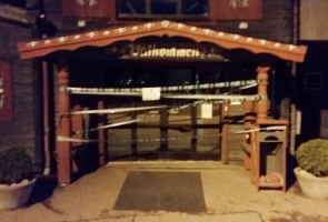 Avspärrningsaktion och utdelning av flygblad i Borlänge