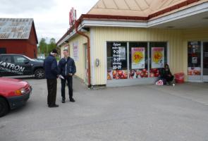Offentlig flygbladsutdelning i Nordanstigs kommun