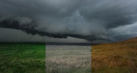 irland mörka moln