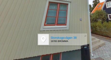 Jan Helin bor på Storskogsvägen 38 i Bromma.