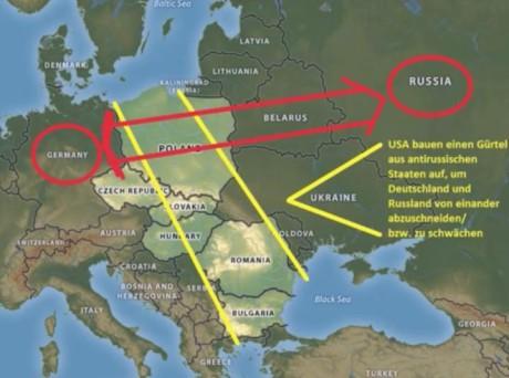 Genom att skära av Tyskland från Ryssland vill judarna motverka en allians mellan de båda länderna -- alliansen är nämligen ett hot mot planer på världsherravälde.