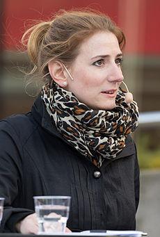 Caroline Szyber, sionistisk aktivist och främjare av judisk identitet samt riksdagsledamot för Kristdemokraterna.