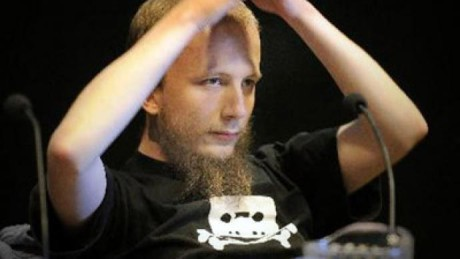 Fildelningssajten The Pirate Bays grundare, Gottfrid Svartholm Warg.