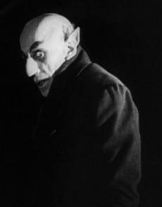 Max Schreck som Nosferatu.