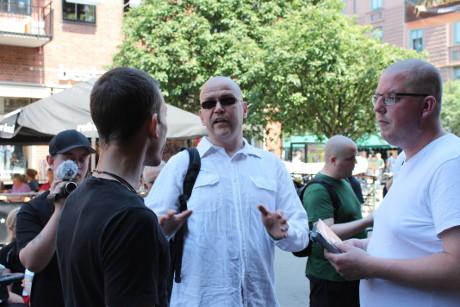 Pär Öberg hamnade under dagen i flera diskussioner.