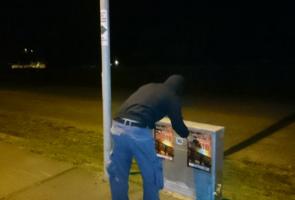 Affischering i Kristianstad