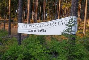 Banderolluppsättning i Borlänge