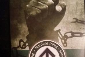Klistermärken uppsatta i Borlänge