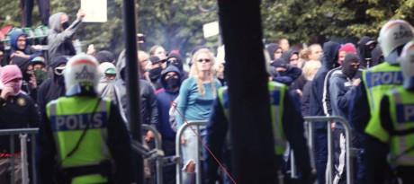 Sengüler under våldsamt upplopp, utpekad av polisen.