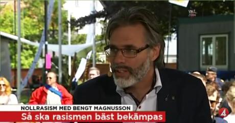 Christer Mattsson talar om att bekämpa rasism.