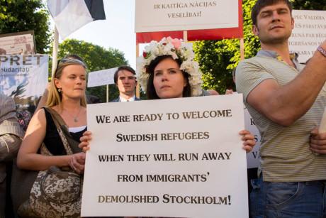 Demonstration i Lettland.