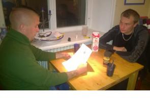 Konfettiaktion och studiecirkel i Stockholm