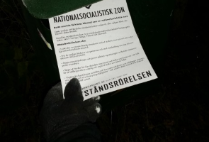 Flygbladsutdelning i Stockholm