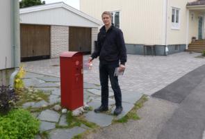 Flygbladsutdelning i Hudiksvall
