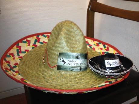 Radio Nordfront-sombrero, som Hagberg fick av finska aktivister.