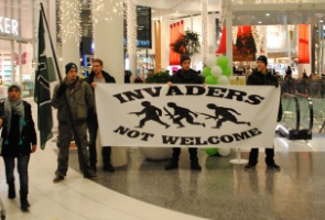 Offentlig aktion på Väla i Helsingborg