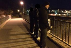 Banderollaktion i Göteborg