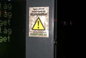 Klistermärkesuppsättning i Sundsvall