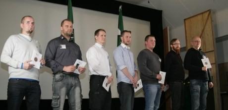 Simon Lindberg och Pär Öberg med nästescheferna i mitten.