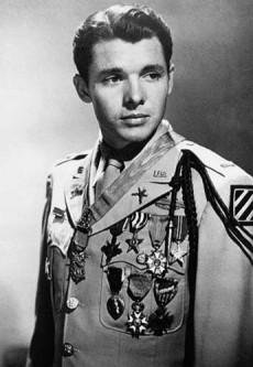 Audie Murphy, en väldigt dekorerad amerikansk krigsveteran.