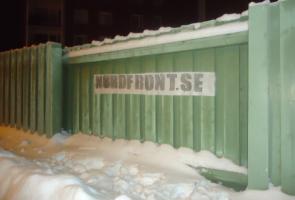 Banderoll uppsatt i Luleå