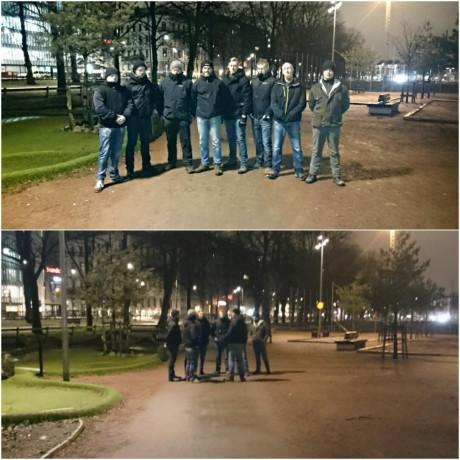 Aktivister ur Nordiska motståndsrörelsen patrullerade i Göteborg under helgen.