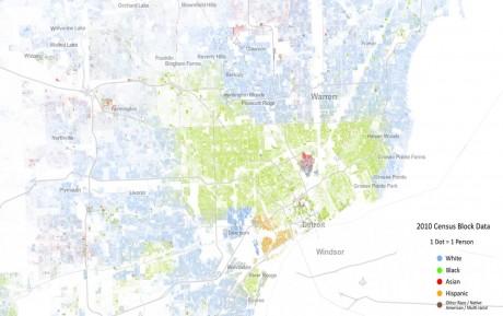 Segregation i Detroit (klicka för större bild)