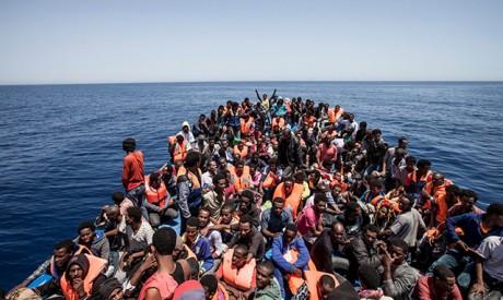 massinvandring båt