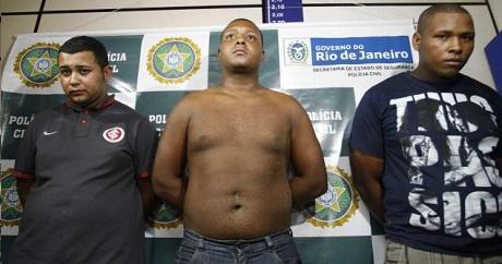 Tre brasilianska män som nyligen gripits, misstänkte för en brutal gruppvåldtäkt på en amerikansk kvinna.
