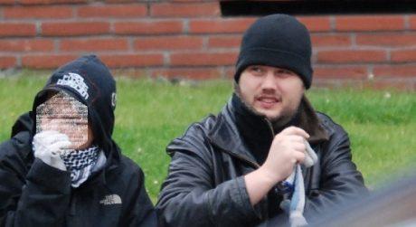 Andreas Rasmussen, utpekad av dansk säkerhetspolis som ledarprofil för Antifascistisk Aktion i Danmark.