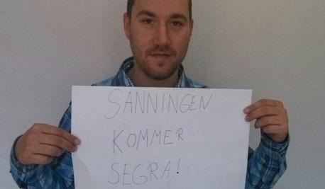 Bild på Andreas Karlsson som fortfarande sitter häktad i väntan på dom.