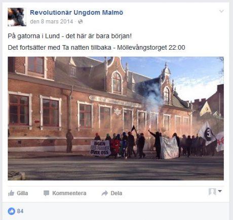 Showan Shattak deltog tidigare under dagen i en demonstration med Revolutionär Ungdom Malmö.