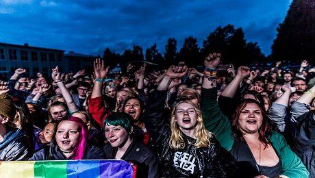 """Trästockfestivalen i Skellefteå är en utpräglat """"mångkulturell"""" och vänstervriden tillställning."""