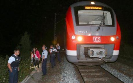 Tåget där yxattacken ägde rum.