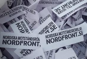 Konfettiaktion i Stockholm