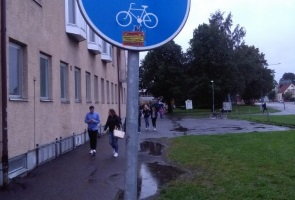 Propaganda inför terminsstart i Skellefteå
